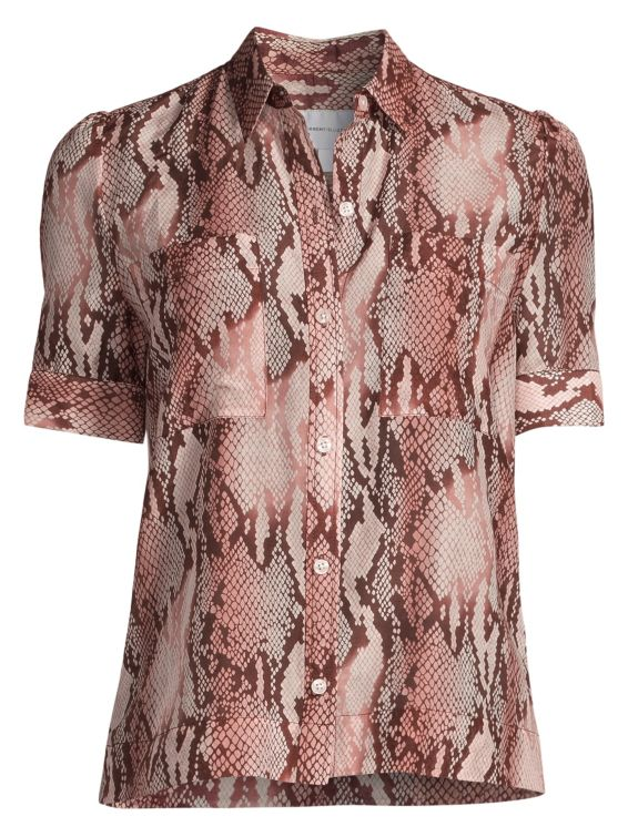 Current/Elliott The Bermuda Snake-Print Blouse