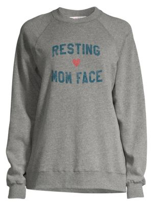 SUBURBAN RIOT   Resting Mom Face Sweatshirt   Goxip