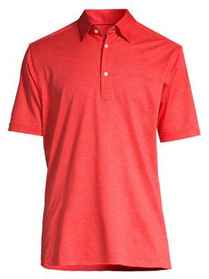 Soft Casual Slim-Fit Popover Pique Polo