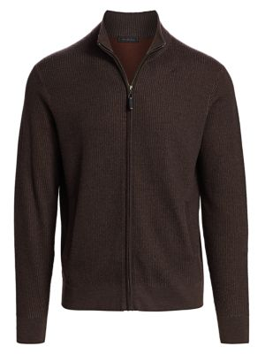 COLLECTION Wool Blend Zip Sweater