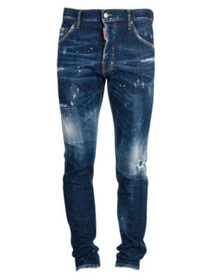 Cool Guy Under Patch Splatter Jeans