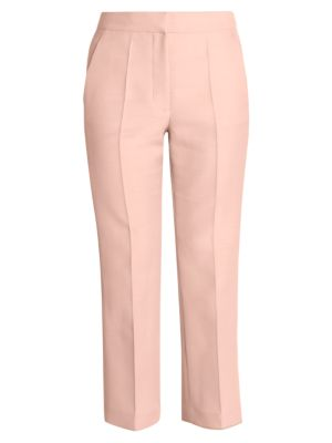 Wool & Viscose Mikado Cropped Trousers