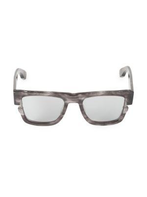 53MM Sektn Rectangular Sunglasses