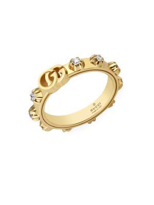 Running GG 18K Yellow Gold & Diamond Ring