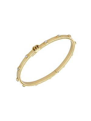 Running GG 18K Yellow Gold & Diamond Bracelet