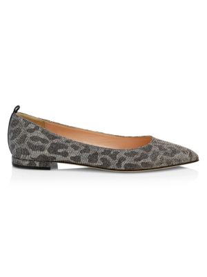 Story Leopard-Print Glitter Ballet Flats