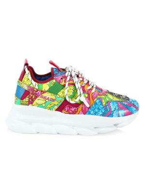 Fluo Barocco Print Chain Reaction 2 Sneakers