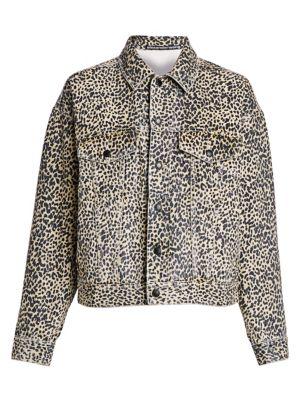 Cheetah-Print Denim Jacket