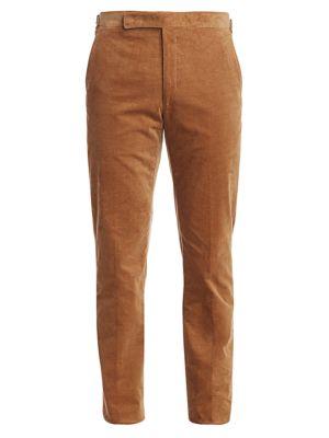 Greg Flat-Front Corduroy Pants