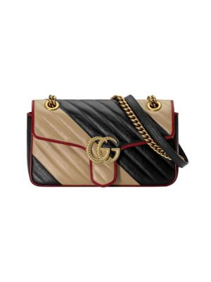 GUCCI   Small GG Marmont 2.0 Leather Shoulder Bag   Goxip