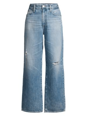 Tomas High Rise Distressed Straight Jeans