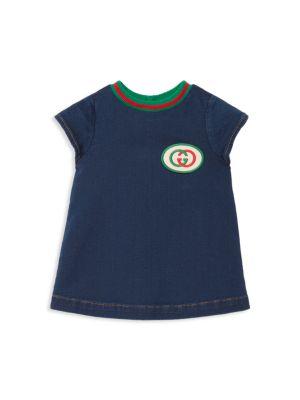 Baby Girl's Interlocking G Denim Dress