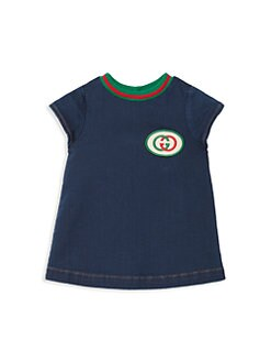 구찌 여자 아기용 데님 원피스 Gucci Baby Girls Interlocking G Denim Dress,Blue