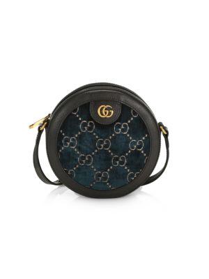 GUCCI   GG Velvet Round Shoulder Bag   Goxip