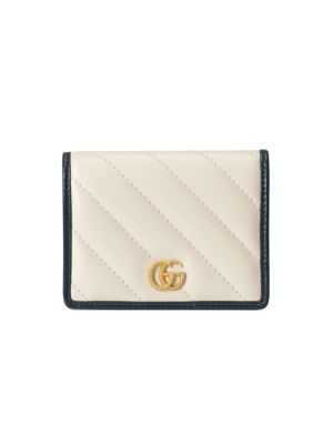 GUCCI | GG Marmont Matelassé Leather Card Case | Goxip