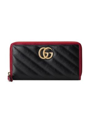 GUCCI | GG Marmont Zip-Around Leather Wallet | Goxip