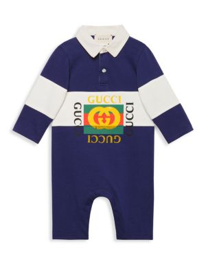 Baby Boy's Polo Playsuit