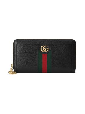 GUCCI | Ophidia Leather Zip-Around Wallet | Goxip