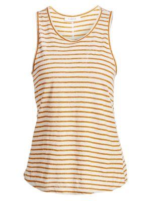 FRAME | Linen Striped Tank Top | Goxip