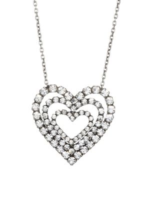 Cheri Triple-Layer Heart Pendant Necklace