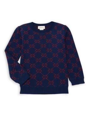 Little Boy's & Boy's GG Cotton Lurex Sweater