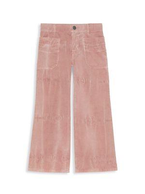 Little Girl's & Girl's Patch Corduroy Pants