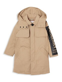 버버리 키즈 트렌치 코트 Burberry Little Kids & Kids Daxton Cotton Trench Coat,Honey
