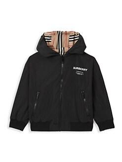 버버리 보이즈 타미 아이콘 양면 자켓 -블랙 Burberry Little Boys & Boys Tommy Icon Reversible Jacket,Black