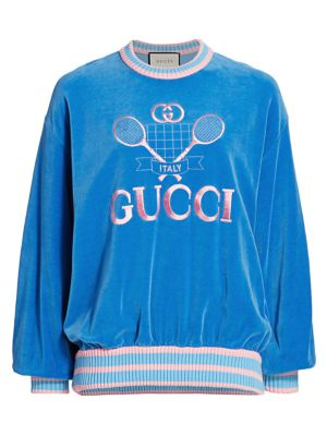 Cotton Chenille Gucci Tennis Sweatshirt