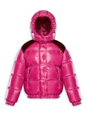 Little Girl's & Girl's Chouette Lacquered Puffer Jacket