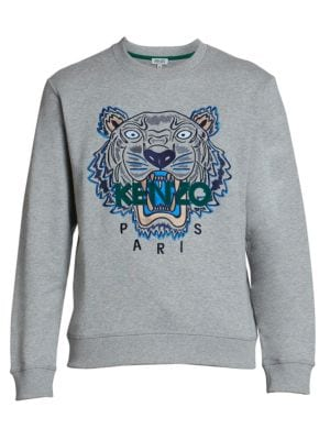 Classic Tiger Embroidery Cotton Sweatshirt