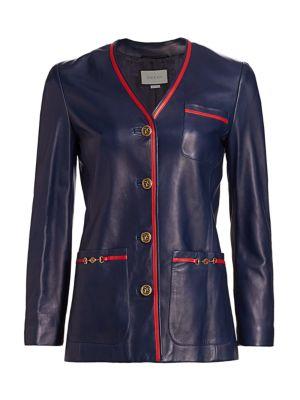French Plonge Leather Jacket