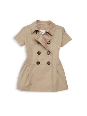 Baby Girl's Mini Cynthie Double-Breasted Trench Dress