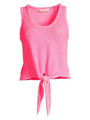 Jacinda Tie-Front Knit Tank Top