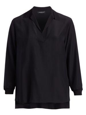 Long Sleeve Silk Boyd Blouse