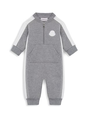 Baby Boy's Two-Tone Kangaroo Pouch Coverall
