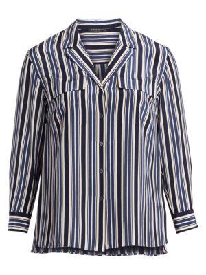 Maximina Striped Silk Blouse