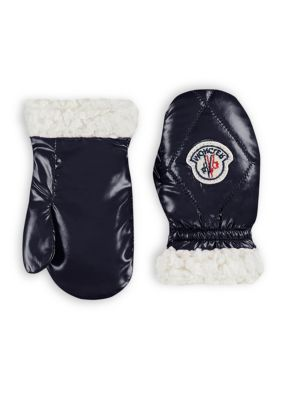 Baby's Moffole Faux-Fur Trim Mittens