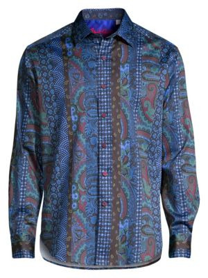 Classic-Fit Momento Long-Sleeve Paisley Shirt