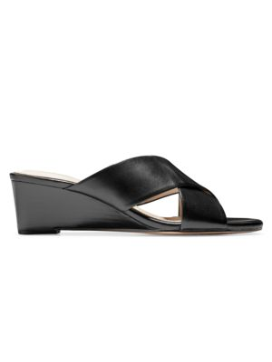 COLE HAAN | Adley Grand Leather Wedge Sandals | Goxip