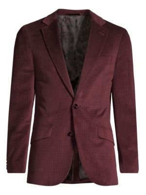 Classic-Fit Wilkes Illusion Houndstooth Single-Breasted Jacket