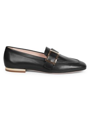 ROGER VIVIER | Buckle Leather Loafers | Goxip
