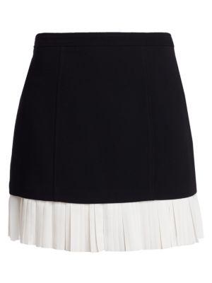 CINQ À SEPT | Catriona Pleated Hem Skirt | Goxip