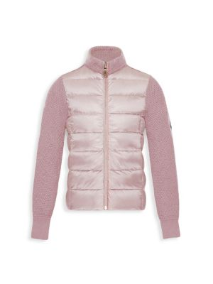Little Girl's & Girl's Maglia Tricot Mixed Media Puffer Jacket