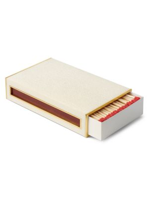 Oversized Shagreen Leather Match Box Set