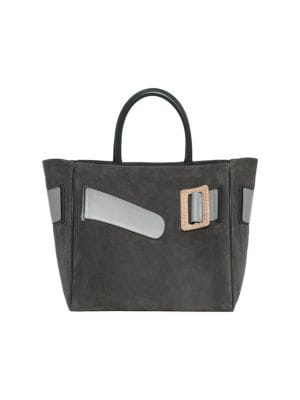 BOYY | Large Buckle Suede & Leather Tote Bag | Goxip