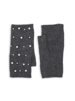 Mini Faux Pearl Scatter Fingerless Gloves