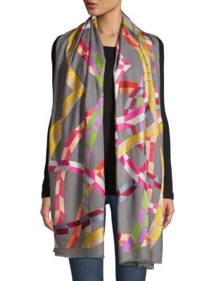 The Fluttering Colors Cashmere Scarf