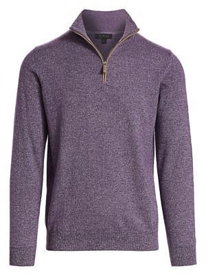 COLLECTION Quarter-Zip Cashmere Sweater