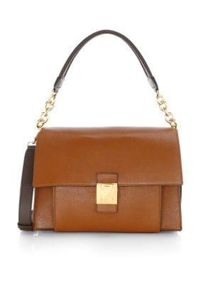 Medium Diva Leather Shoulder Bag